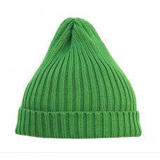 Шапка вязаная, зелёная