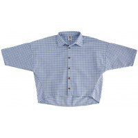 Рубашка унисекс: голубая клетка