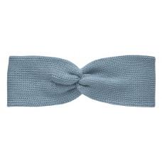 Вязаная повязка, серо-голубая