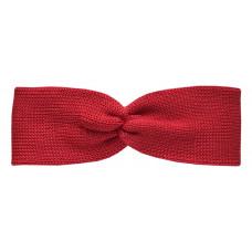 Вязаная повязка, красная