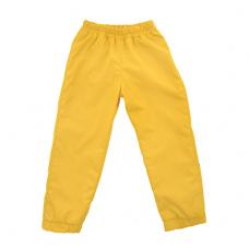 Штаны из плащевки Regular, жёлтые