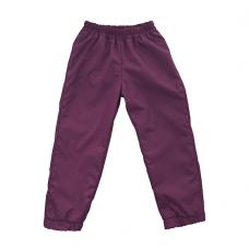 Штаны из плащевки Regular, лилово-бордовые