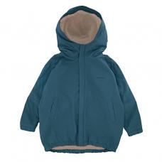 Куртка-парка, взрослая, сине-зелёная