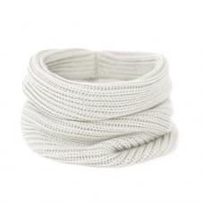 Вязаный шарф-снуд, белый