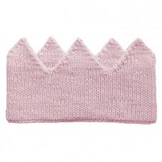 Вязаная корона, нежно-розовая
