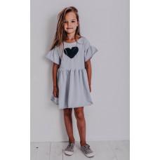 Платье Butterflles, голубое