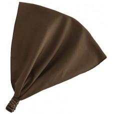 Косынка на резинке, коричневая