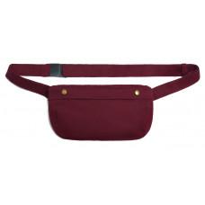 Поясная сумка, бордовая