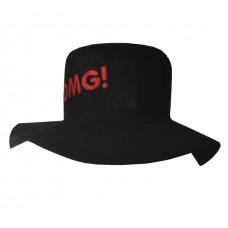 """Шляпа """"OMG"""", чёрная"""