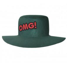 """Шляпа """"OMG"""", зелёная"""
