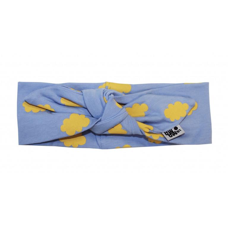 Трикотажная повязка на голову LAMAMA NUBE BLUE