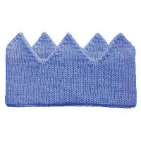 Вязаная корона, голубая