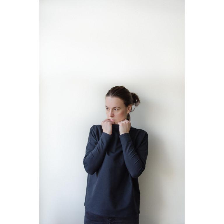 Лонгслив женский, коричневый