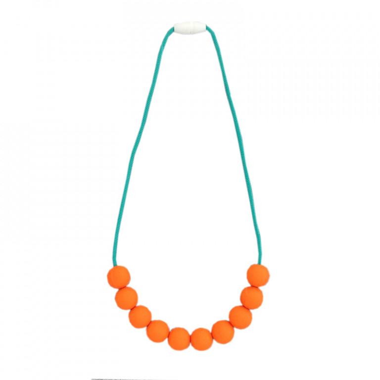 Слингобусы: оранжевые на бирюзовом шнурке