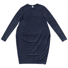 Трикотажное платье, взрослое, синее