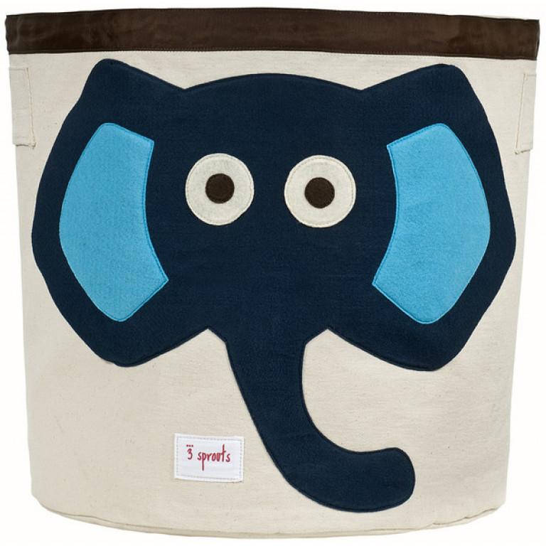 """Корзина для игрушек """"Синий слон"""""""