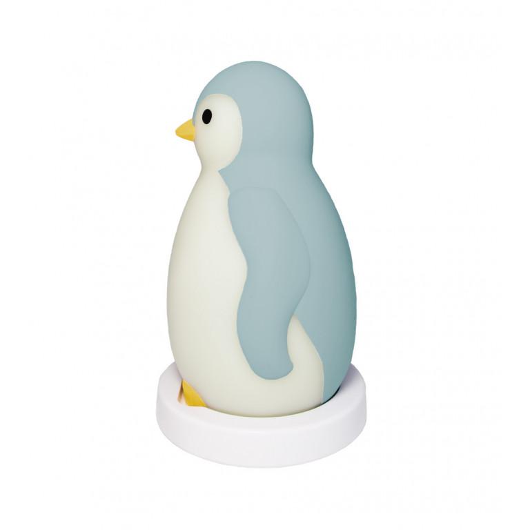 Беспроводная колонка+будильник+ночник пингвинёнок Пэм, голубой