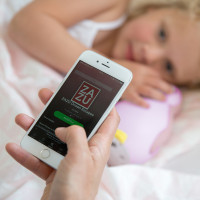 Беспроводная колонка+будильник+ночник пингвинёнок Пэм, розовый