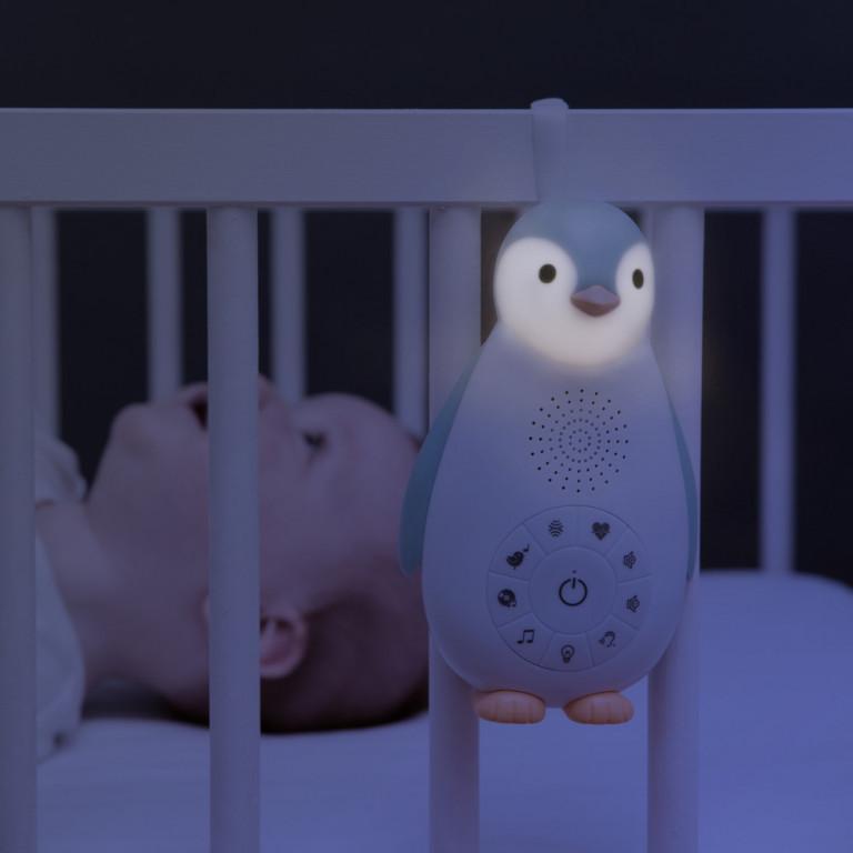 Беспроводная колонка+проигрыватель+ночник пингвинёнок Зои, серый