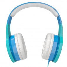 Наушники для детей от 2 лет с ограничением звука kidrox rs4, голубой/белый