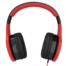 Наушники для детей от 2 лет с ограничением звука kidrox rs4, красный/чёрный