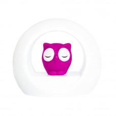 Ночник с датчиком звука Сова Лу, розовый