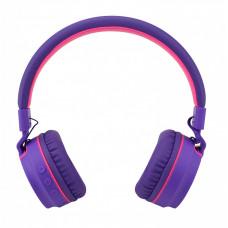 Складные беспроводные Bluetooth наушники Artix RS7 Sports + 3.5мм разъём, фиолетовые