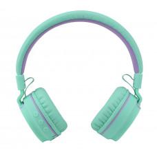 Складные беспроводные Bluetooth наушники Artix RS7 Sports + 3.5мм разъём, мятные