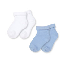 Носки белый/голубой, 2 пары