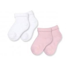 Носки белый/розовый, 2 пары