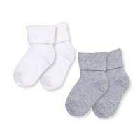 Носки белый/серый, 2 пары