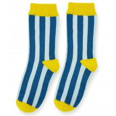 Носки, голубые в синюю полоску
