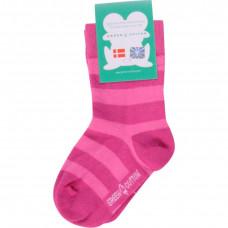 Носки, розовые в полоску