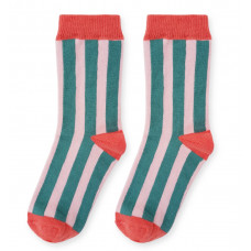Носки, розовые в зеленую полоску
