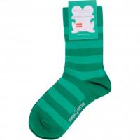 Носки, зелёные в полоску