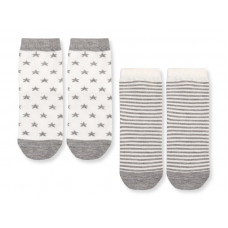 Носки звёзды/полоски, 2 пары