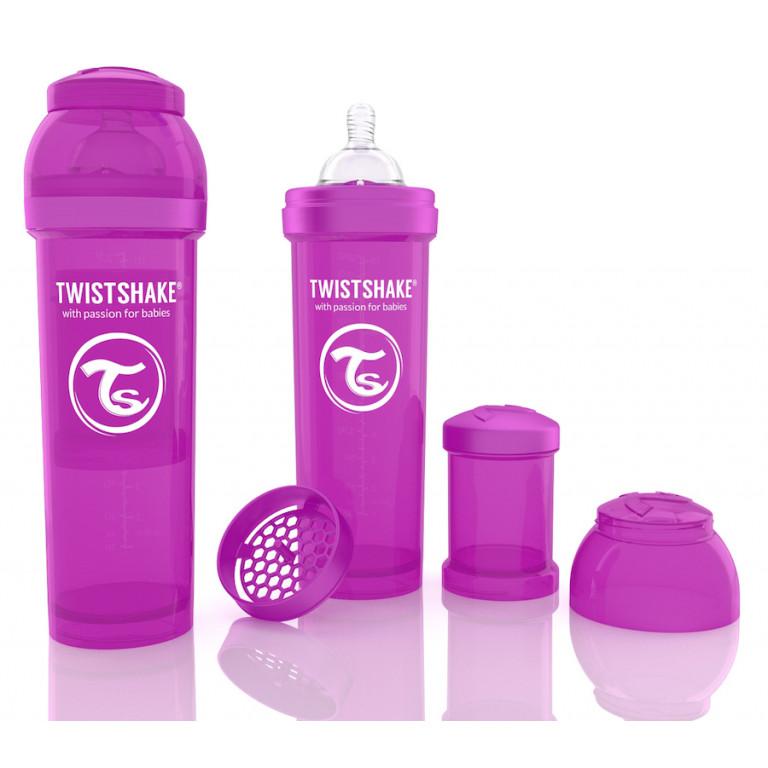 Антиколиковая бутылочка Twistshake для кормления, фиолетовая