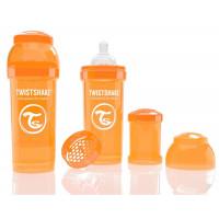 Антиколиковая бутылочка Twistshake для кормления, оранжевая