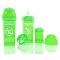 Антиколиковая бутылочка Twistshake для кормления, зелёная