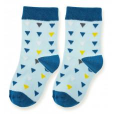 Носки, голубые с треугольниками