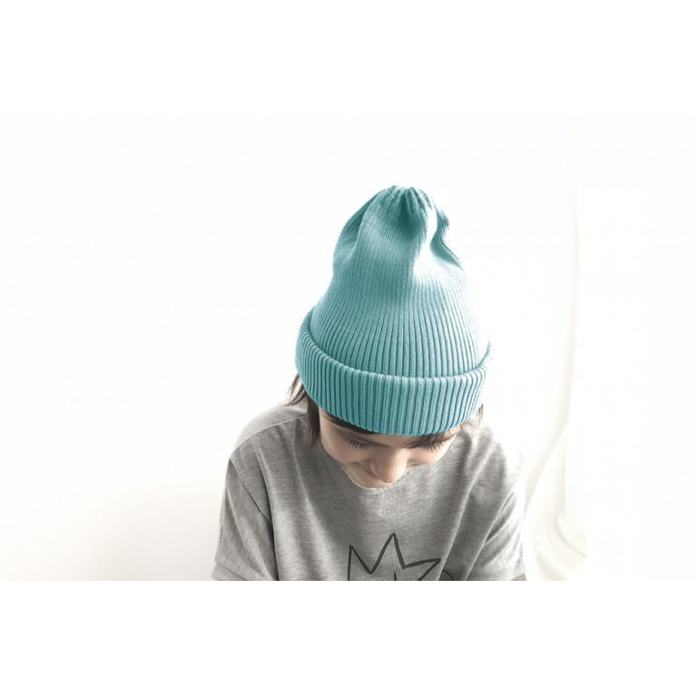 Хлопковая шапка-тыковка, лазурно-голубая