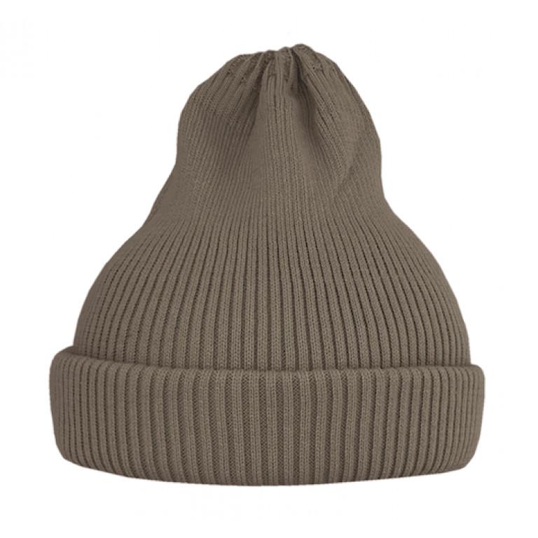 Хлопковая шапка-тыковка, песочная тёмная