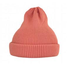 Хлопковая шапка-тыковка, светло-коралловая