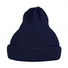 Хлопковая шапка-тыковка, тёмно-синяя