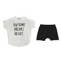 "Пижама унисекс ""Awesome dreams inside"", белая"