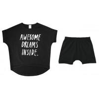 """Пижама унисекс """"Awesome dreams inside"""", чёрная"""