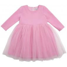 Платье с фатином, розовое