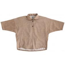 Рубашка для девочек, коричневая джинс