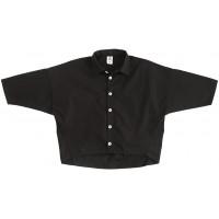Рубашка унисекс, чёрная в клетку