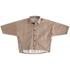 Рубашка унисекс, коричневая джинс